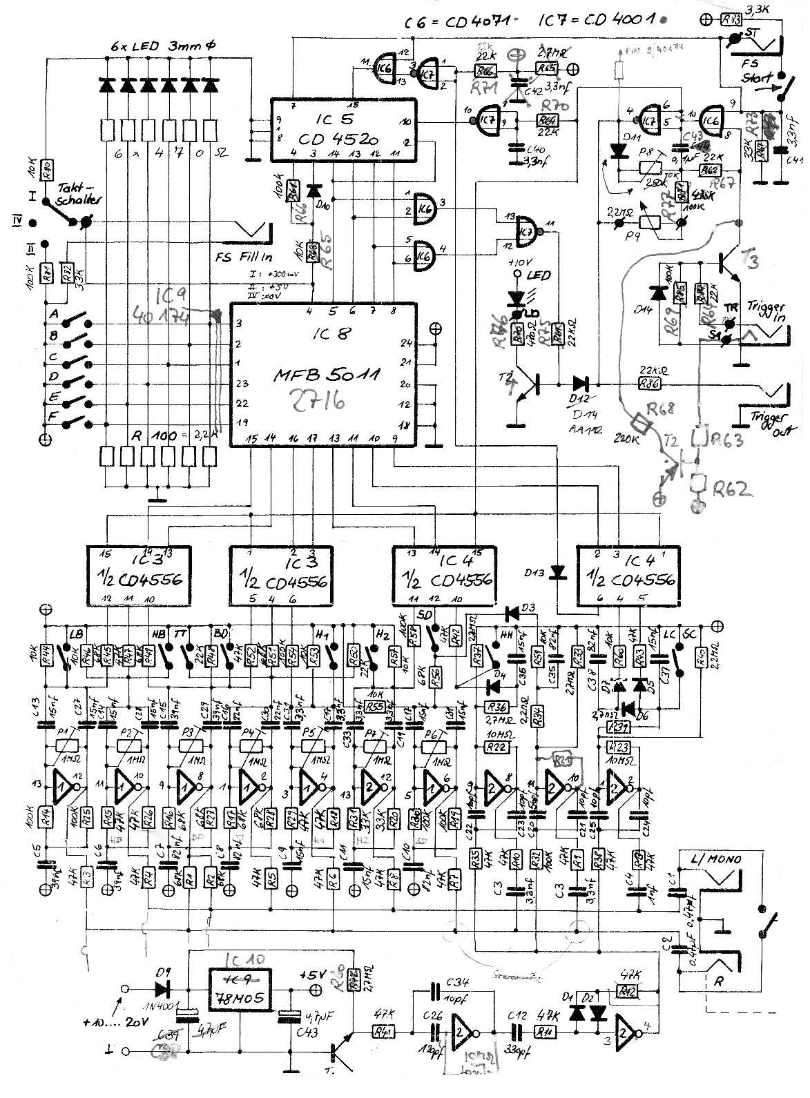 Casio Keyboard Schematic Also Electronic Circuit Diagrams Diagram Likewise Toy Organ 555 Timer Synthesizer Service Manuals Free Download Rh Synfo Nl