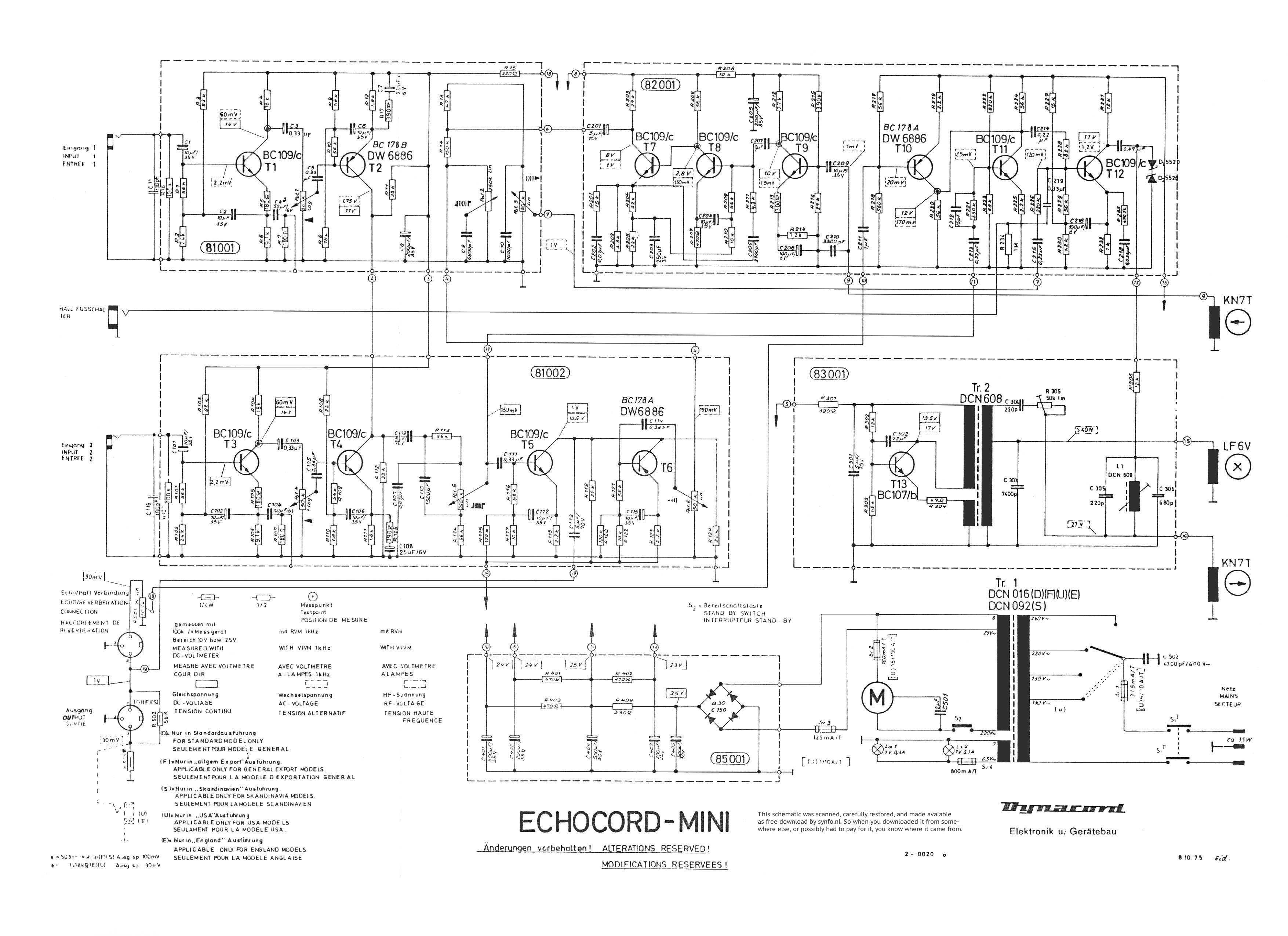 Synthesizer Service Manuals Free Download Ultrasonic Circuit Schematic Wiring Diagram