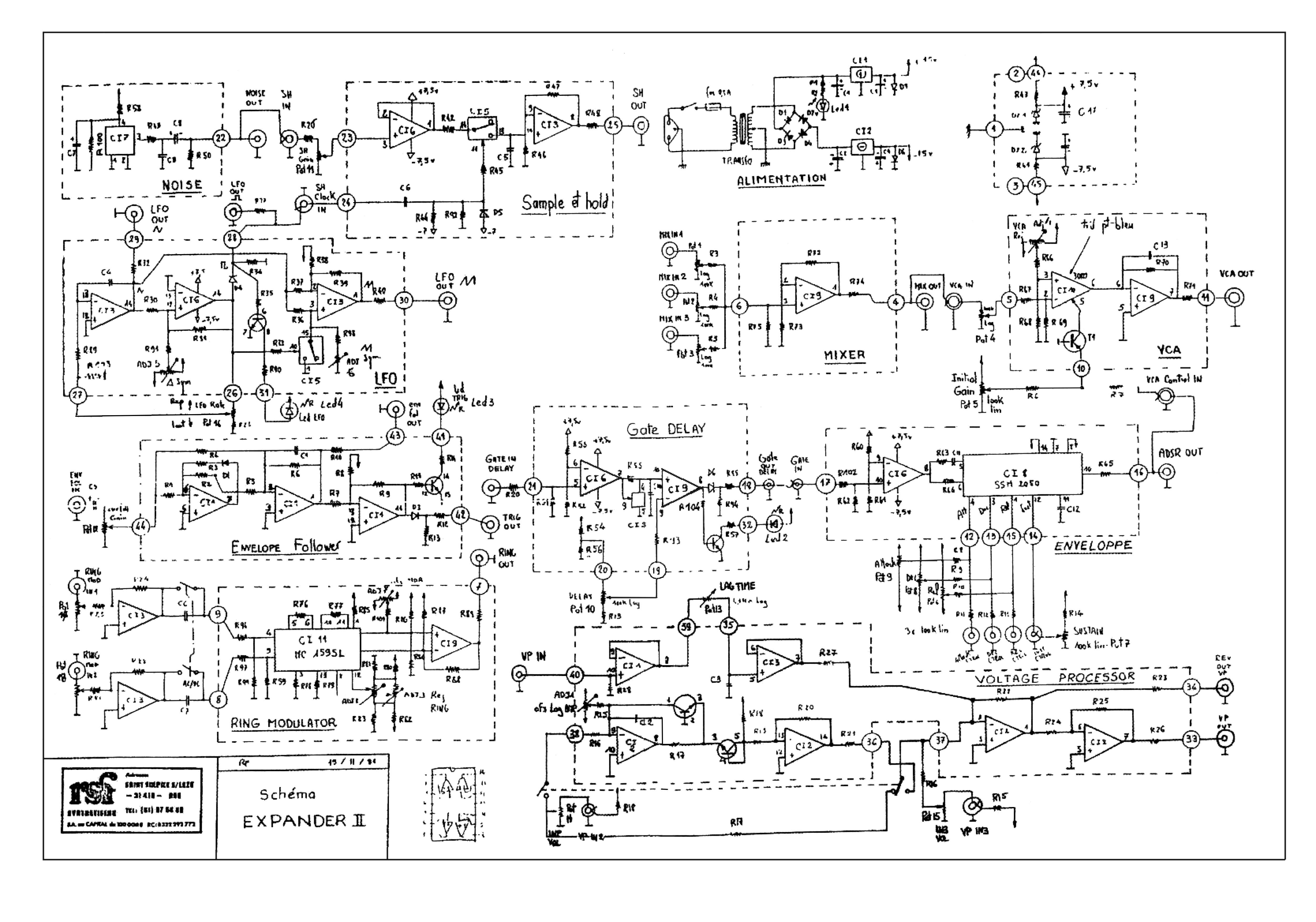 EXPANDER II_SCHEMATICS synthesizer service manuals free download ra-4000 installation manual at crackthecode.co